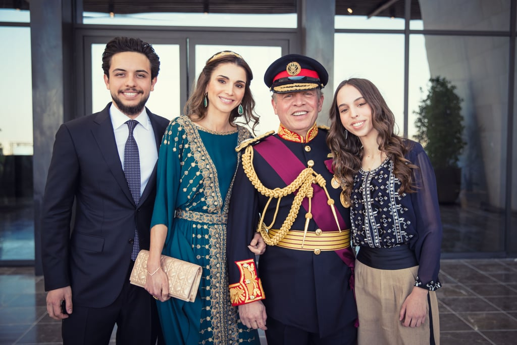 Queen Rania Teal Dress at Great Arab Revolt Celebration 2016