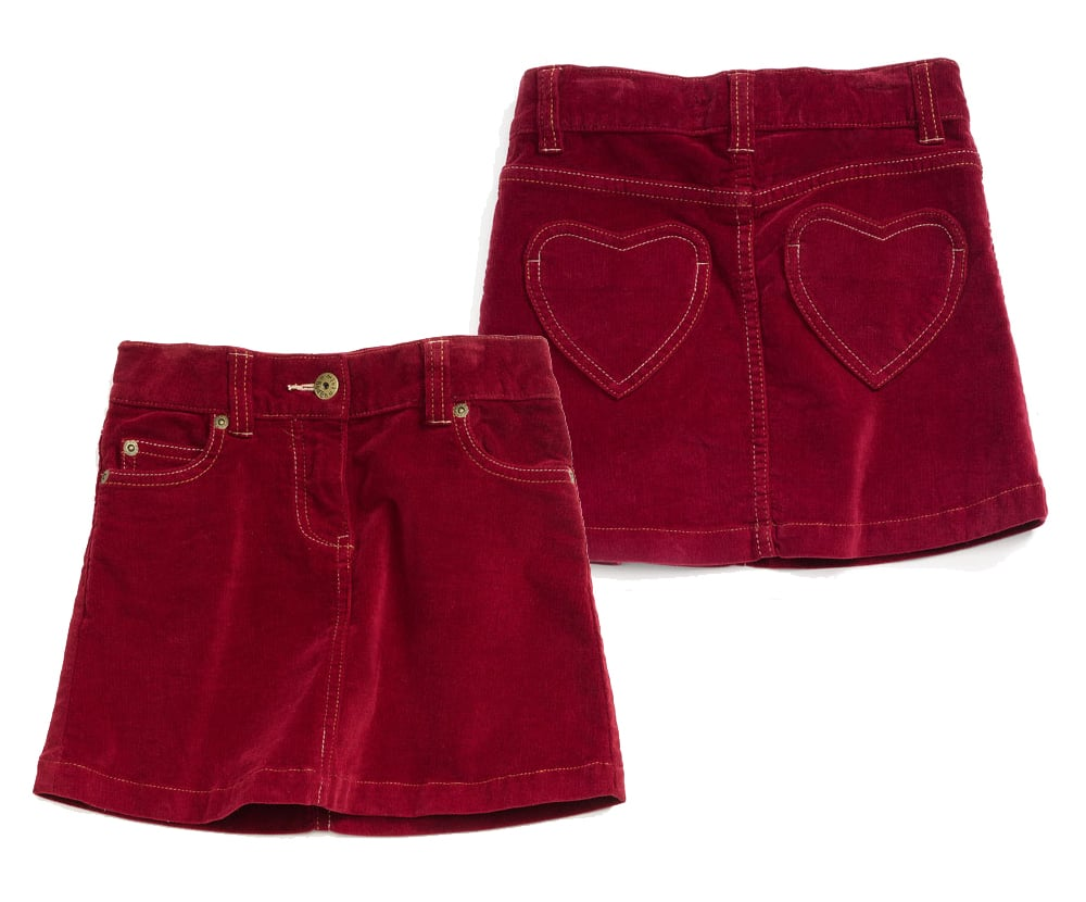 Mini Boden Heart-Pocket Skirt