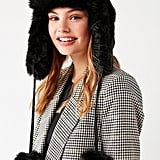 Fuzzy Faux Fur Trapper Hat