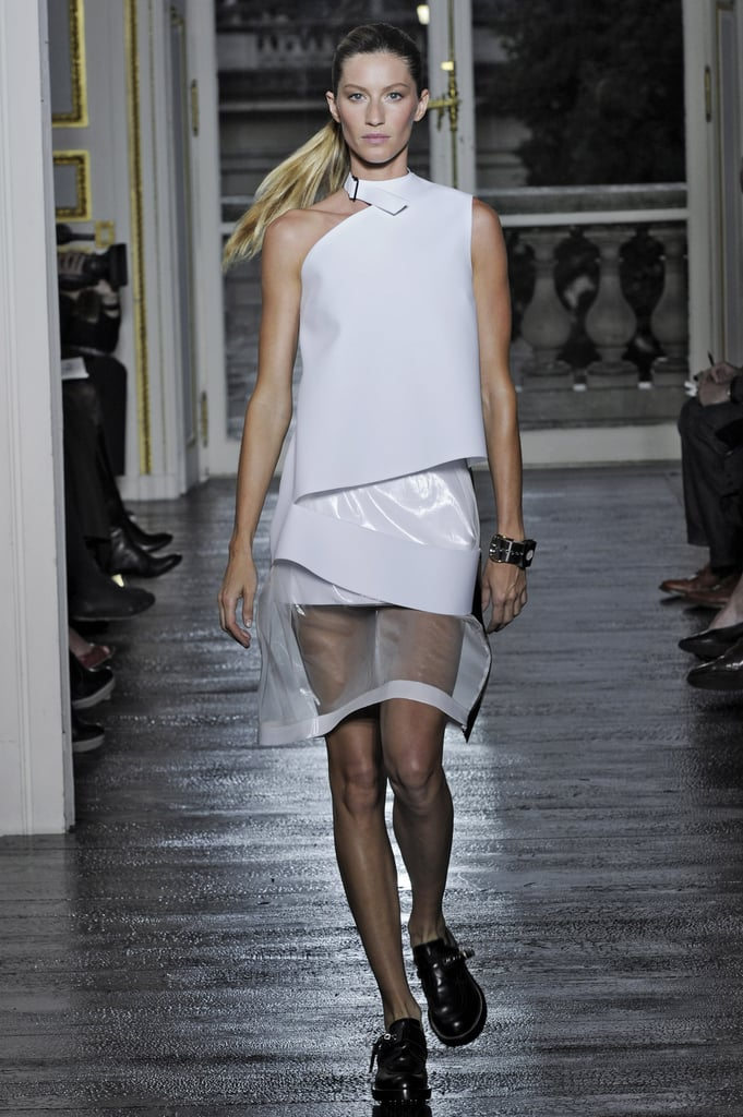 Gisele Bündchen on the Balenciaga Runway at Paris Fashion Week Spring/Summer 2011