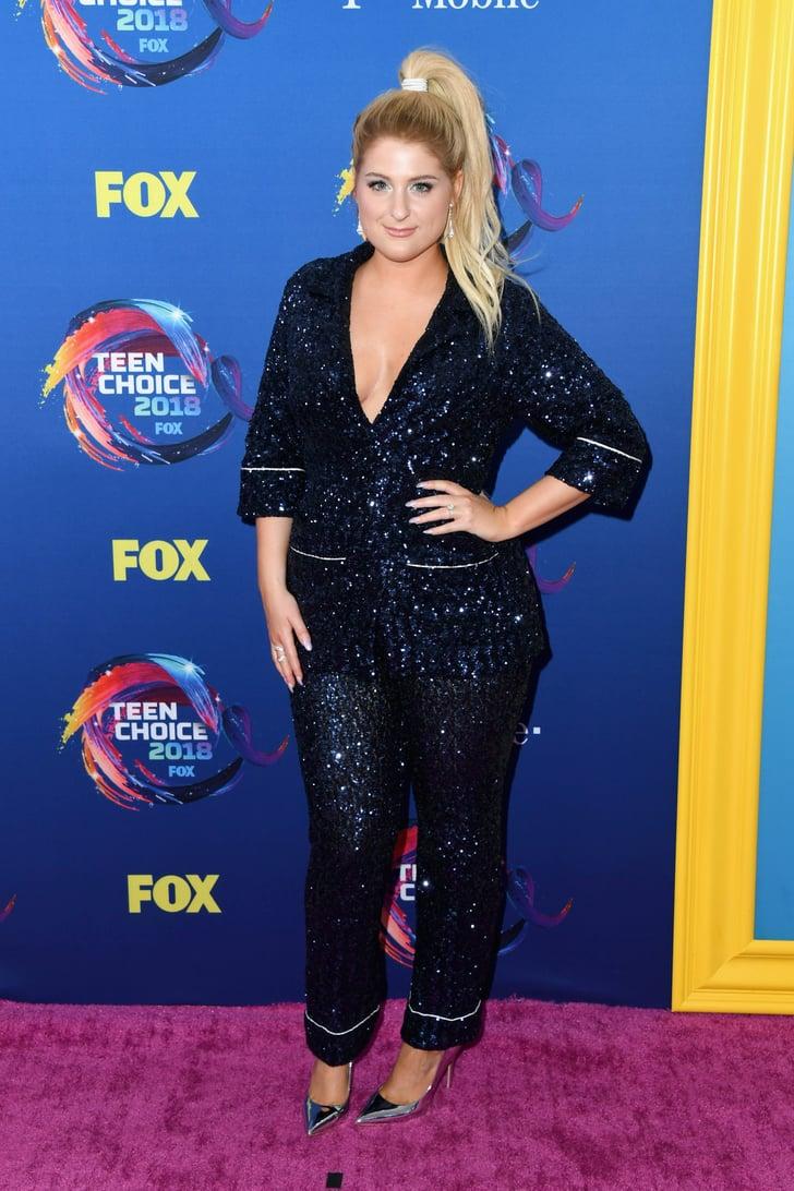 Meghan Trainor Teen Choice Awards Red Carpet Dresses