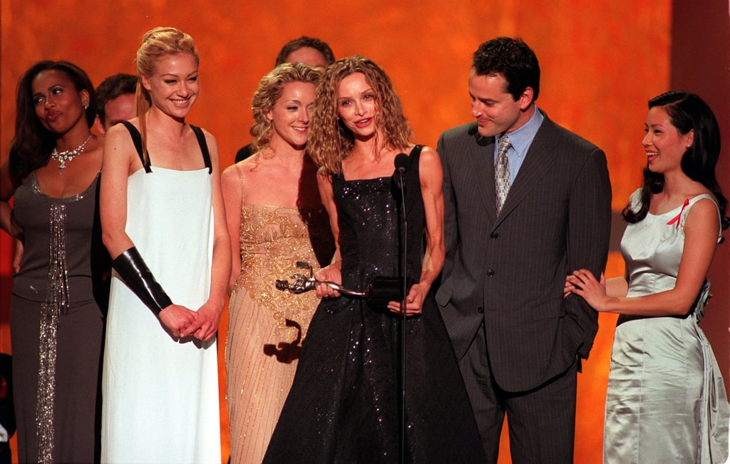 Portia de Rossi, Jane Krakowski, Calista Flockhart, and Lucy Liu took the stage together in 1999 to accept an award for Ally McBeal.