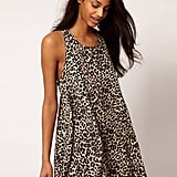 Embrace the season's '90s nostalgia with this wild print and swing shape.  ASOS Animal Print Swing Dress ($49)