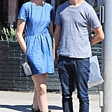 Anne Hathaway and Adam Shulman spent an afternoon together in LA.