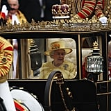 The Queen Takes a Carriage Ride to Buckingham Palace