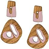 Roksanda Sculptural Wood Drop Earrings