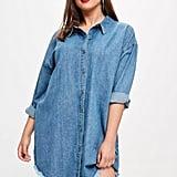 Missguided Plus Size Oversized Denim Shirt Dress