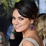 Earlier this year, Mila was out for the premiere of her film Oz the Great and Powerful looking like a classic beauty. Her hair was pulled back in a low chignon with sideswept bangs, while her makeup focused on thick black liner and peach tones on her cheeks and lips.