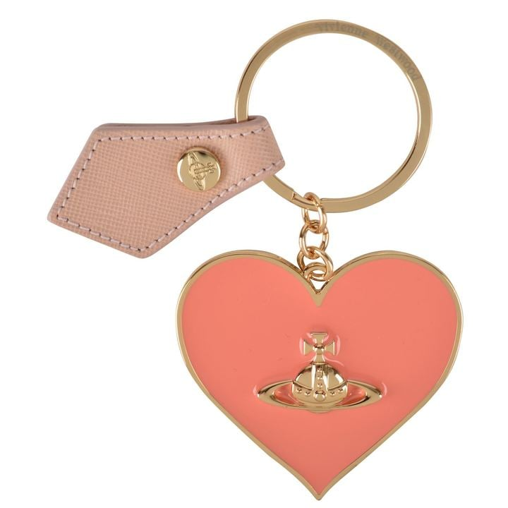 5dcadd57c8 Vivienne Westwood Mirror Heart Keyring   Best Bag Charms and ...