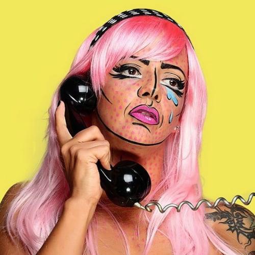 Pop-Art Halloween Makeup   POPSUGAR Beauty