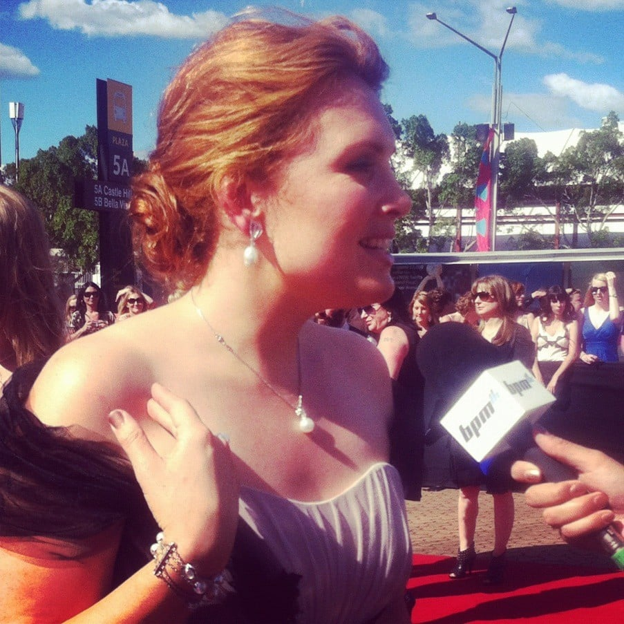 Clare Bowditch donned a strapless gown and a loose up 'do. Twitter User: ClareBowditch