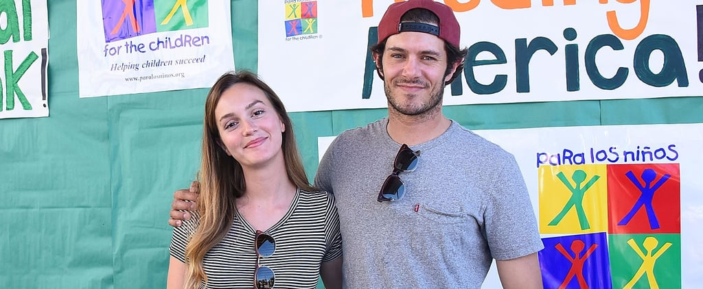 Leighton Meester and Adam Brody Arm-Wrestle a Little Boy While Volunteering