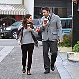 Ben Affleck and Jennifer Garner glanced sweetly at each other.