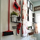 Use a Pegboard For Hanging Storage