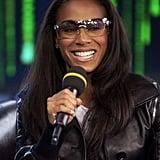 Jada Pinkett Smith stopped by MTV Studios for TRL in 2003.