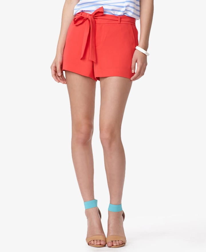 These Forever 21 tie-front woven shorts ($18) would make your tanned legs look even hotter. Remove the tie for a cleaner silhouette.