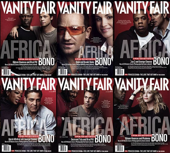 Celebrities Play Telephone for VF's Africa Issue