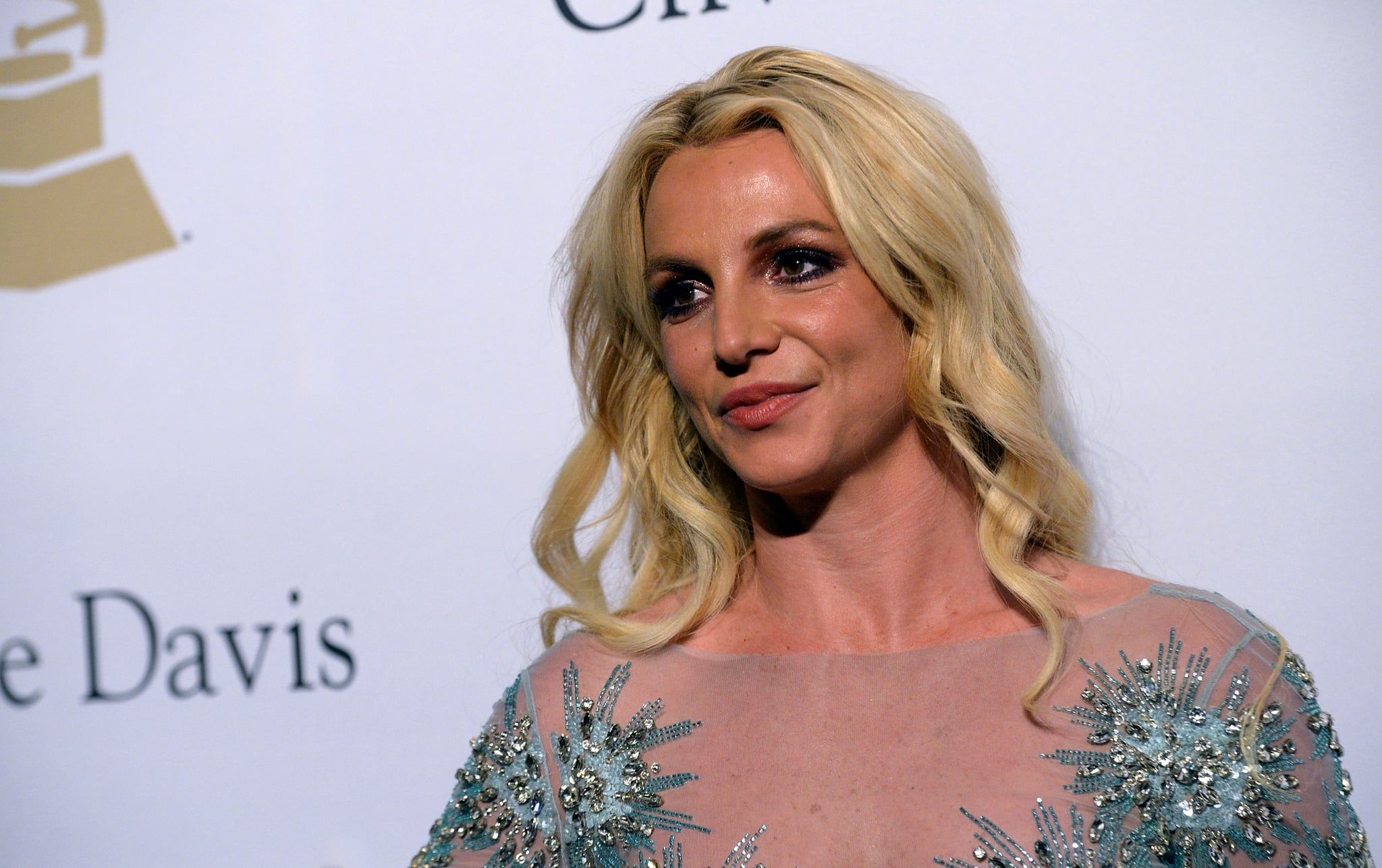 BEVERLY HILLS, CA - FEBRUARY 11:  Singer Britney Spears walks the red carpet at the 2017 Pre-GRAMMY Gala And Salute to Industry Icons Honoring Debra Lee at The Beverly Hilton Hotel on February 11, 2017 in Beverly Hills, California.  (Photo by Scott Dudelson/Getty Images)