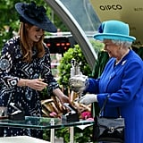 With the queen at Royal Ascot in 2016.