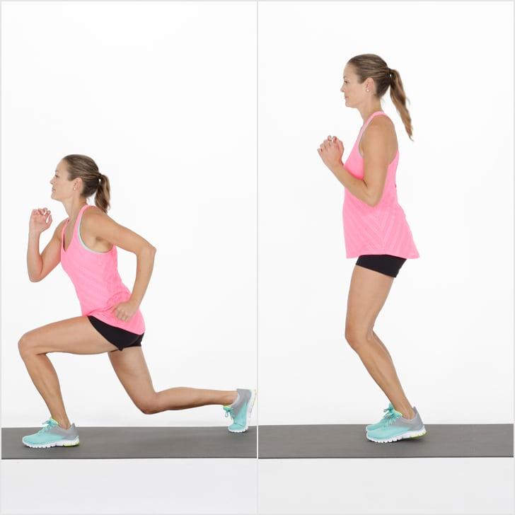 Tabata Three: Lunge Hop