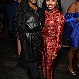 Nafessa Williams and Logan Browning at the 2020 MACRO Pre-Oscars Party