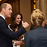 Prince William and Kate Middleton at Olympic Reception 2016