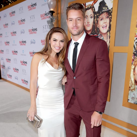Justin Hartley and His Wife at A Bad Moms Christmas Premiere