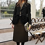 Olivia Palermo at the Burberry Fall 2013 show in London.