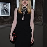 Dakota Fanning at a private Elie Saab dinner in NYC.