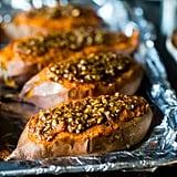 Vegan Pecan Pie Twice-Baked Sweet Potatoes