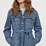 H&M Denim Jacket With Tie-Belt