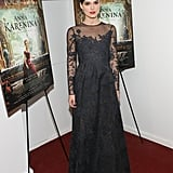 At the film's NYC premiere, Keira slipped into Valentino Couture.