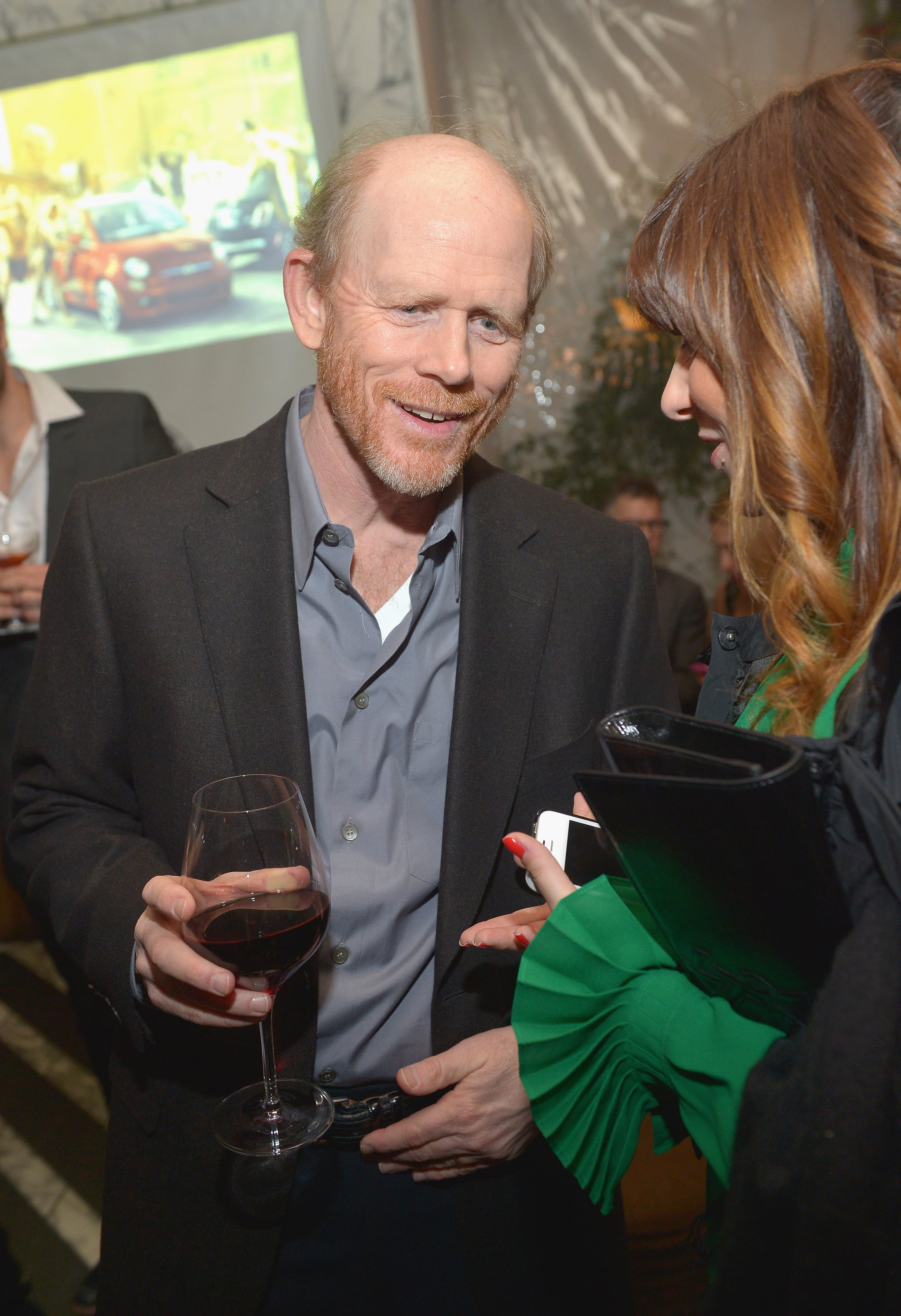Ron Howard mingled with guests at a Vanity Fair party in LA on Thursday.