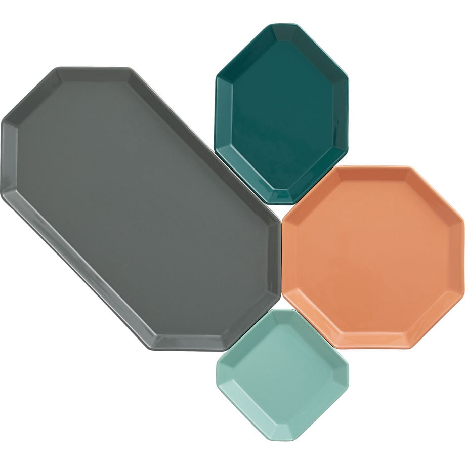These intermix plates ($4-$15) are fitting for casual outdoor entertaining.