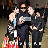 Katy Perry, Lenny Kravitz, and Miley Cyrus — 2015