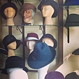 Busy Philipps went hat shopping —at least we think that's what's going on here. Source: Instagram user busyphilipps
