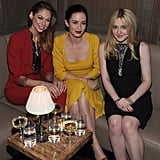 Analeigh Tipton, Emily Blunt, and Dakota Fanning smiled together at a private Elie Saab dinner in NYC.