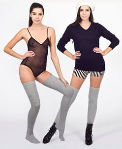 American Apparel Heather Solid Thigh-High Sock