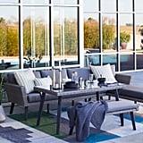 MoDRN Scandinavian Lina Outdoor Patio Casual Dining Sectional Set