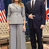 Melania's Black Pumps