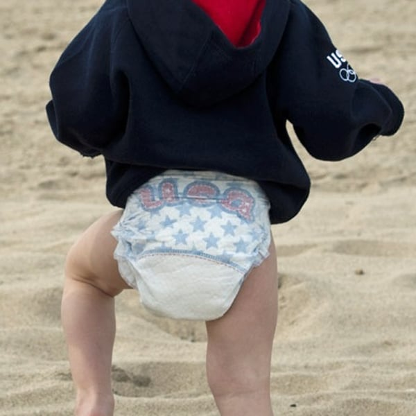 Summer and Olympic Designer Diaper Designs