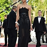 Chanel Iman at the Cannes premiere of Cleopatra.
