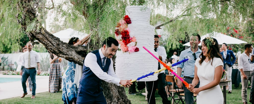 """This Couple's Unexpected Wedding Idea Will Have You Rethinking the """"Cake Smash"""""""