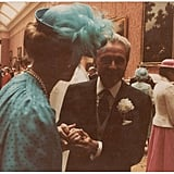 Princess Micheal of Kent chatted with another wedding guest.      Related:                                                                                                           The 50 Most Fascinating Facts About Princess Diana's Life