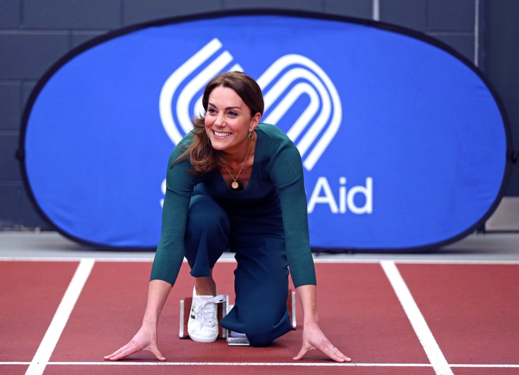 Kate Middleton's Green Striped Sneakers From Marks & Spencer