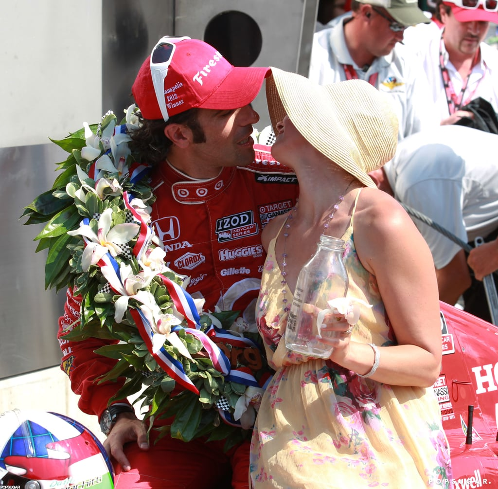 Ashley Judd congratulated her husband, Dario Franchitti, following his May win in Indianapolis.