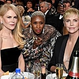 Nicole Kidman, Cynthia Erivo, and Charlize Theron at the 2020 Critics' Choice Awards