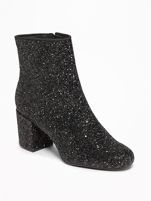 11be12e9242c Old Navy Glitter Block Heel Boots