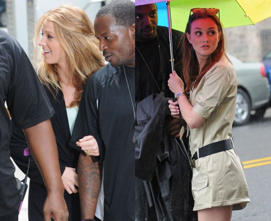 Pictures of Leighton Meester and Blake Lively Filming Gossip Girl