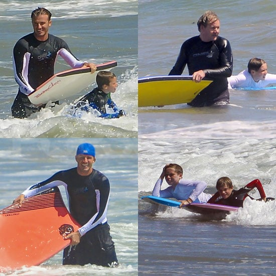 The Beckhams Put On a Boogie-Boarding Show For Gordon Ramsay and Friends